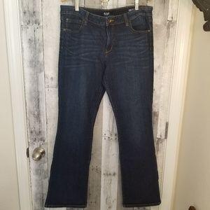 A.n.a dark wash boot cut denim jeans 33/16